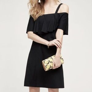 Maeve flounce bust cold shoulders dress Anthro DB2